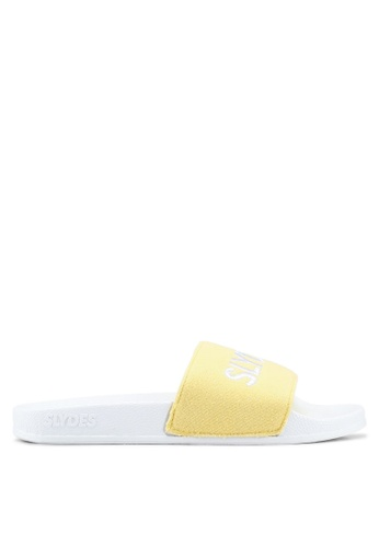 Slydes white and yellow and multi Plya Sandals 1F949SH8BF3835GS_1