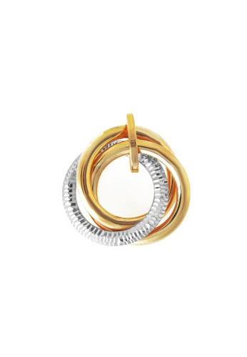 TOMEI gold TOMEI Pendant of Trio Sphericity with Swirling Verve, Yellow Gold 916 (IP-PTE176133-2C) F7A15AC13BAD73GS_1