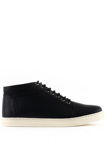 7soles black Tristan MS Smart Casual Shoes 7S266SH0JRAMPH_1