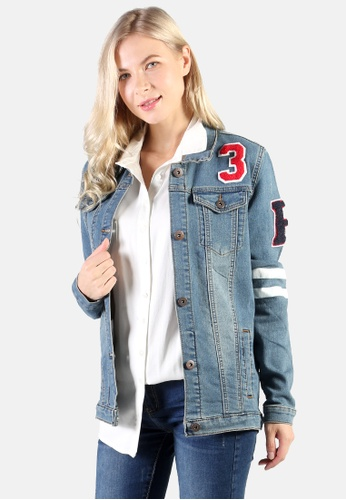London Rag blue Denim Jacket With Patch Graphic Detail 1B70CAA704C5CCGS_1