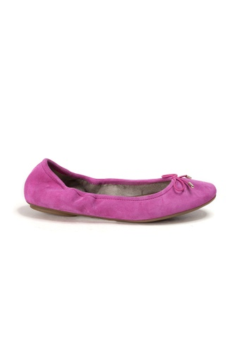 Shu Talk pink AMAZTEP New Comfy Bow Ballerina Ballet Flats in Fuchsia 678ECSH625EA2BGS_1