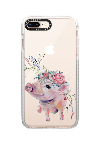 Casetify white Pearl The Pig Impact Protective Case for iPhone 8+/ iPhone 7+ 1580EAC8933793GS_1