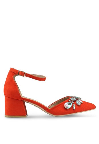 Glamorous 橘色 鑽飾高跟鞋 92C6ESHEFFBD42GS_1