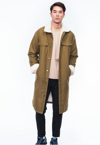 Alpha Style brown Tajo Faux Shearling Long Coat AL461AA0GYGPSG_1