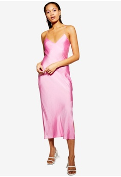 bdfdb5c785 TOPSHOP pink Satin Cowl Back Slip Dress 639CDAAC3F9E89GS 1