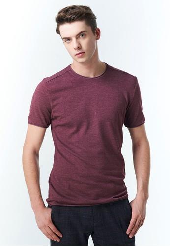 Sisley red Regular Fit T-shirt EA21BAA3AC156BGS_1