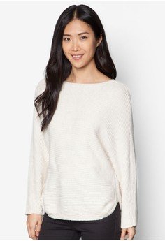 Cotton Wool-Blend Ribbed Sweater