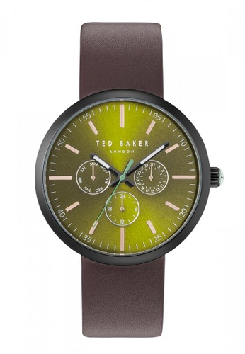 TED BAKER brown and green Ted Baker JACK Watch - 10031502 TE856AC50KPLSG_1