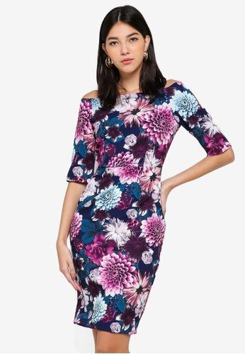 Paper Dolls multi Floral Bardot Dress CF730AAD3573EEGS_1