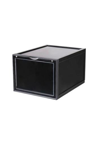 HOUZE black SoleMate - AJ Premium Jumbo Shoe Box (Black) - Dim: 37.5x28x22cm 34815HLB91B84FGS_1