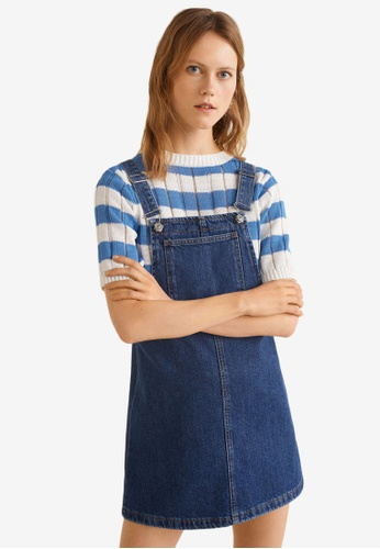 71133dd18b89 Buy Mango Dark Denim Pinafore Dress Online on ZALORA Singapore