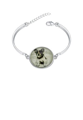 Glamorousky silver Elegant Fashion Cute Luminous Puppy Bracelet and Bangle FEDCAAC78D66AFGS_1