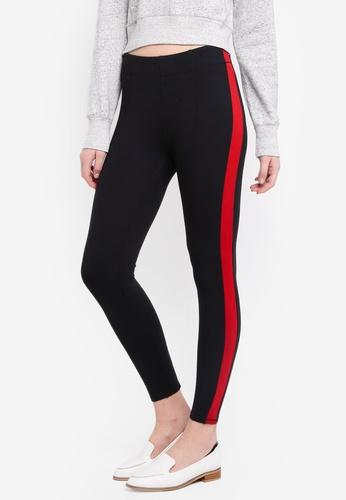 Abercrombie & Fitch black Side Stripe Leggings BB055AA26A8257GS_1