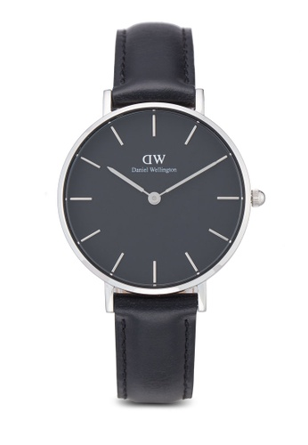 Daniel Wellington black and silver Classic Petite Sheffield Watch DA376AC51PMAMY_1