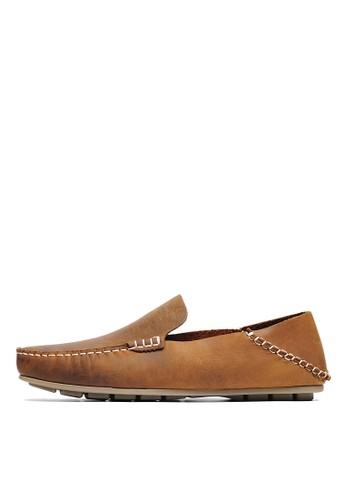 MIT。2way後踩。瘋馬牛皮懶人休閒鞋-04749-瘋馬棕, 鞋, 休閒esprit 價位鞋