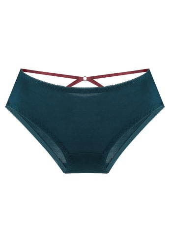 LAVABRA Intimates green Very Sexy Panty - Cadence Comfy Modal Trendy Bands Bikini Panty LA387US77SLAID_1