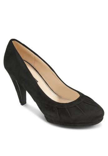 esprit outlet台北抓褶錐形高跟鞋, 女鞋, 高跟