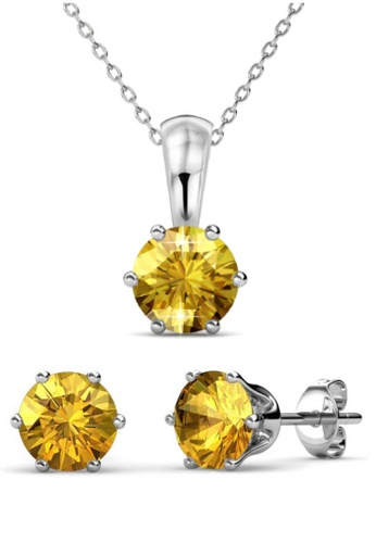 Her Jewellery yellow Birth Stone Set (November) - Made with premium grade crystals from Austria 42CACAC1D6D813GS_1