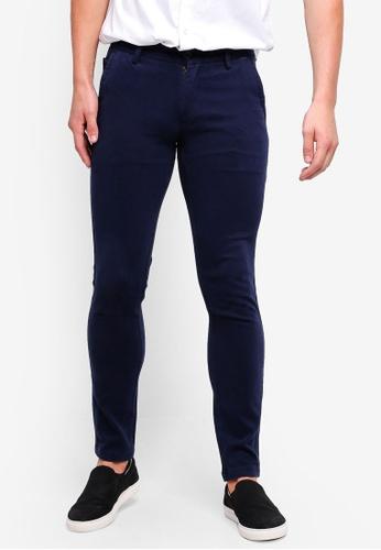 High Cultured 藍色 修身長褲 FCEDCAA3348029GS_1