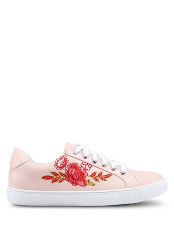 Something Borrowed pink Floral Embroidered Sneakers 7EB09SH112DDF0GS_1