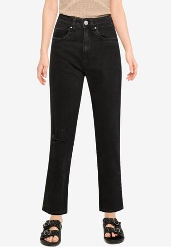 Cotton On 黑色 Straight 彈性牛仔褲 97366AA8AB7741GS_1