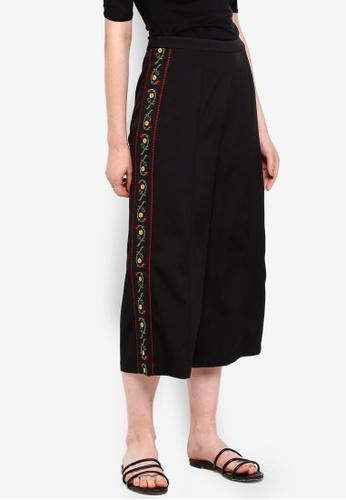 Something Borrowed black Embroidered Culottes 2EFDAAA9199010GS_1