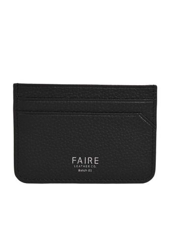 Faire Leather Co. black Specter PG Slim Cardholder (Black) - Slim Leather Wallet E268CAC4AB5FBAGS_1