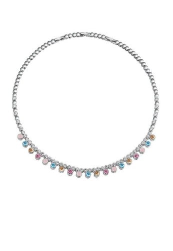 ADORA silver Multicolor Swarovski  Crystal  Necklace 4DD3CAC7ED2D16GS_1