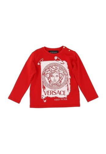 Versace red VERSACE BABY BOYS LONG SLEEVE T-SHIRT FB0ACKA369500FGS_1