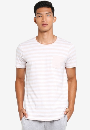 Cotton On white and pink Textured Pocket Tee 35E4AAA3678044GS_1