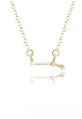 LOVENGIFTS gold LOVENGIFTS Origami Horoscope Aries Long Necklace (Gold) LO429AC31QZKMY_1