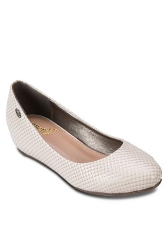 漆面壓紋平esprit門市底鞋, 女鞋, 鞋