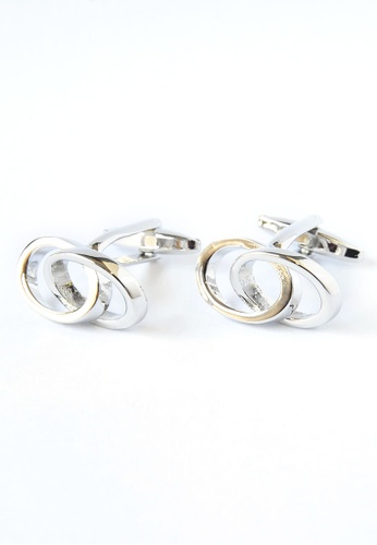 Splice Cufflinks Joined Wedding Rings Cufflinks SP744AC09DPUSG_1