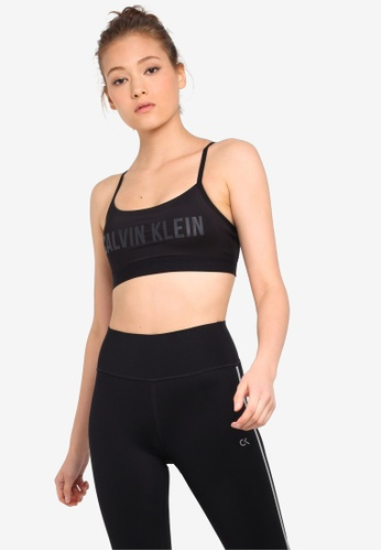7f932b7cb72e Calvin Klein black Logo Crossback Strap Bra - Calvin Klein Performance  EA292US7DBD4D0GS_1