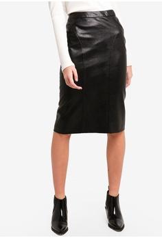 6fb53ee4c6 Dressing Paula black Faux Leather Pencil Skirt C6982AA1A08638GS 1