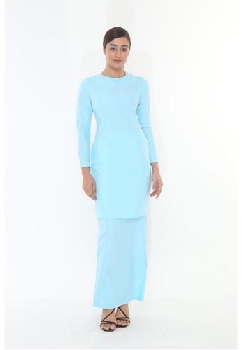 Amar Amran blue Baju Kurung Moden Qasandra 9B23AAAAF0BD97GS_1