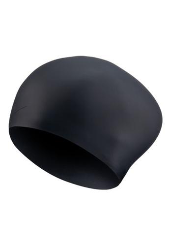 Nike black Nike Unisex Solid Long Hair Silicone Training Cap 40357AC120ABA9GS_1