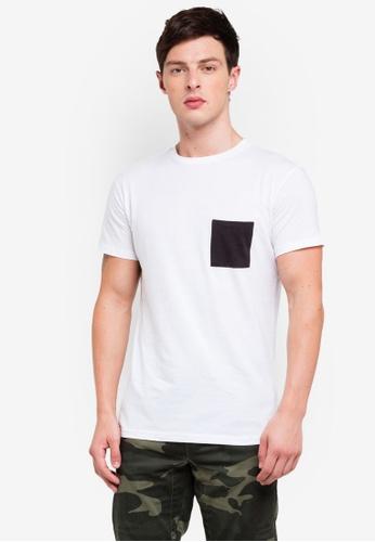 OVS 白色 口袋T恤 22B4AAAD90AD8EGS_1