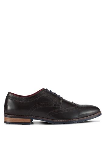 Acuto brown Wingtip Leather Brogues AC283SH0SL7CMY_1