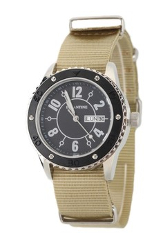 Eglantine Vanessa Steel Watch On Nato Strap,15ws-Vanbb-Nato2