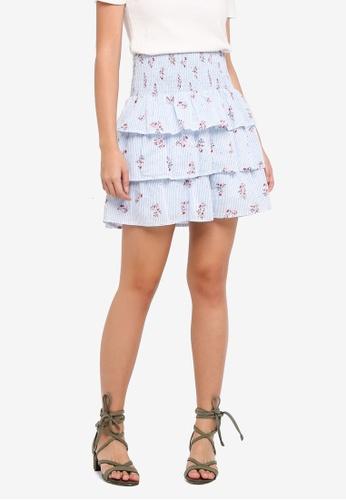 Vero Moda blue Cille Short Skirt FCFDDAA43A4429GS_1