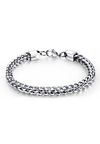 Oxhide silver Oxhide Cubic Chain Metal Bracelet C09B2AC485865AGS_1