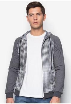 Printed Sleeves Hoodie Jacket