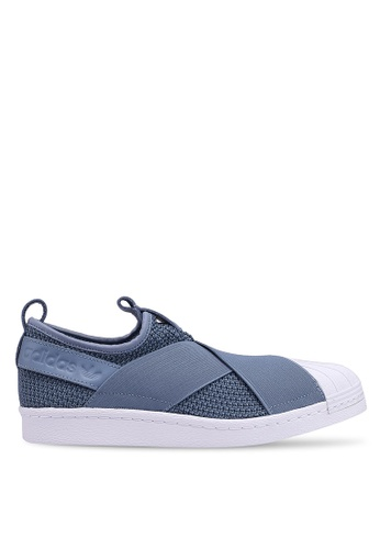promo code fa035 9158b adidas blue adidas originals superstar slip on w 95B48SH9083F9DGS1