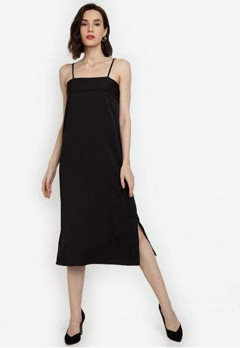 ZALORA WORK black Panel Detail Cami Dress 2D41CAA6F7C887GS_1