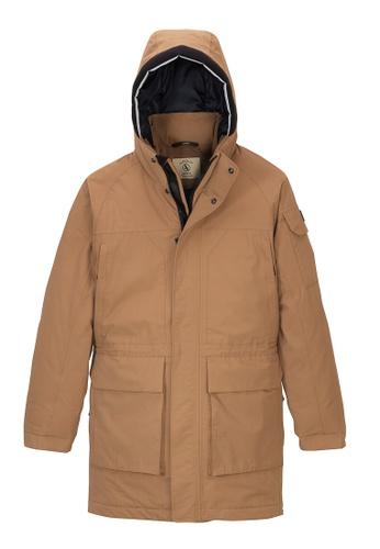 Aigle brown Zormit Waterproof Jacket 0E5E8AA28A0519GS_1