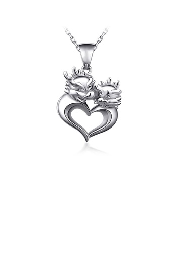 Glamorousky silver 925 Sterling Silver Chinese Zodiac Dragon Pendant with Necklace B8558AC47D74F4GS_1