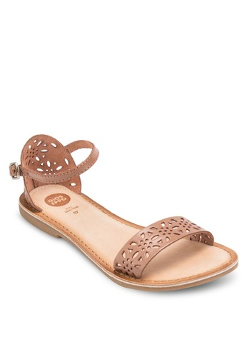 Kinali W 雕花包跟涼鞋, 女鞋, 涼esprit hk分店鞋