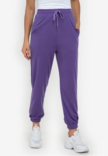 ZALORA ACTIVE purple Active Jogger Pants BB179AA007EE1CGS_1
