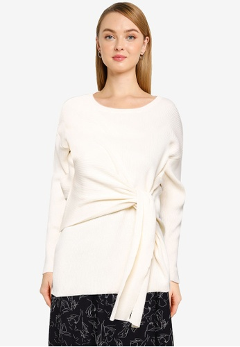 LOWRYS FARM white Knit Pullover 14212AA6B67D98GS_1